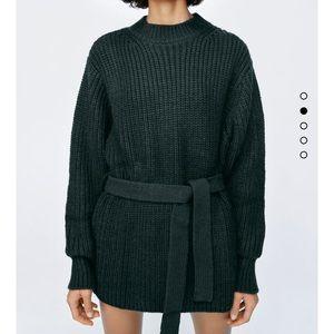 ZARA belt knit sweater